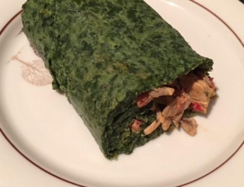 Rezept: Spinatrolle mit Gemüse-Puten-Füllung