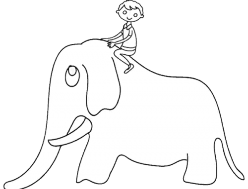 Der Reiter auf dem Elefant